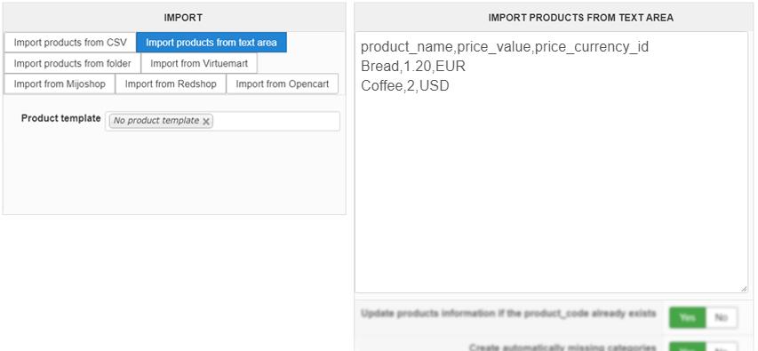 HikaShop - Import