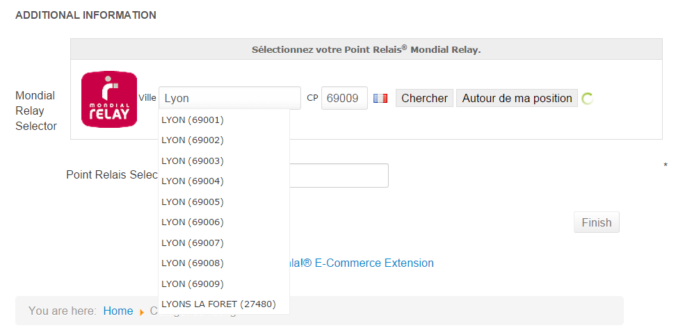 Hikashop integration with mondial relay - Mondial relay samedi ...