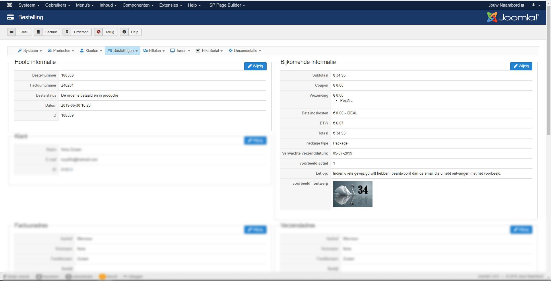 HikaShop - custom field image disappears after order edit - HikaShop