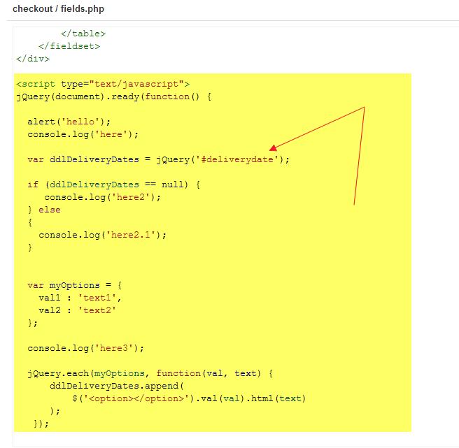 HikaShop - Populating a custom field drop down via jQuery