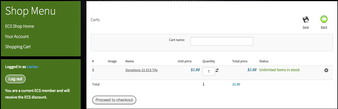 HikaShop - Proceed to Checkout button on Cart(s) page broken ...