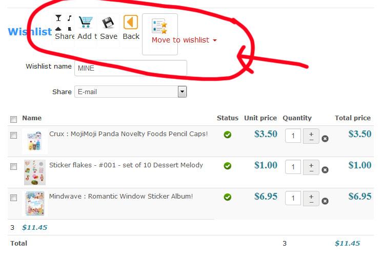 HikaShop - Wishlist Icons Displaying Incorrectly - HikaShop