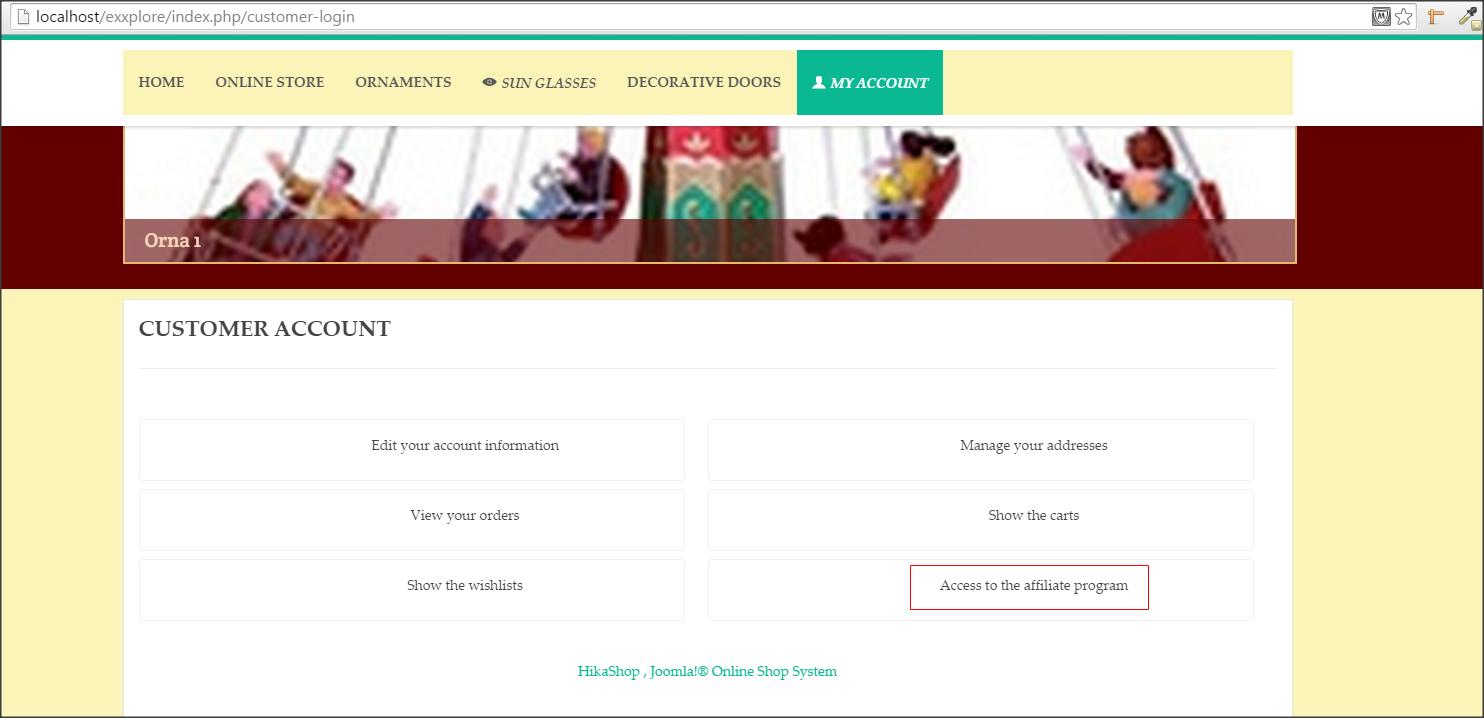 Shop customer account create/ - Thanks