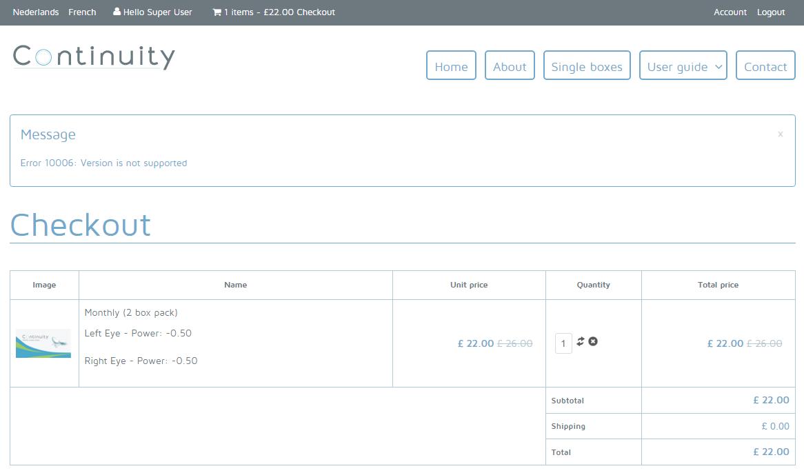 HikaShop - PayPal Pro API version possibly causing 10540 err