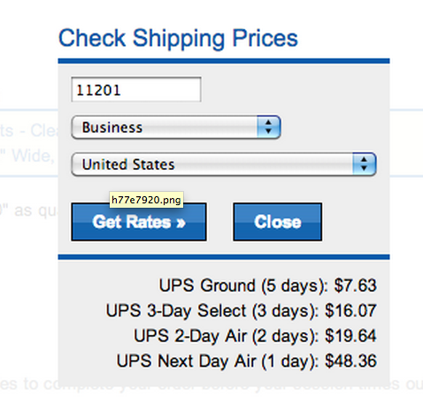 HikaShop - Enter zip code for UPS shipping fee before login