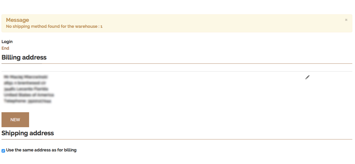 HikaShop - UPS shipping method does not show up on checkout