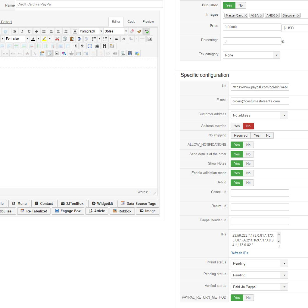 HikaShop - Emails to Administrator - HikaShop