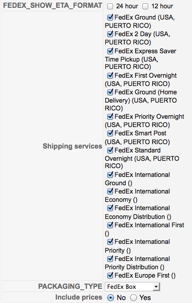 HikaShop - FedEx : HikaShop shipping plugin - Page 3 - HikaShop